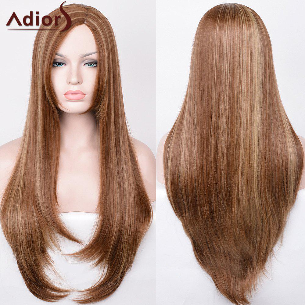 Adiors Side Part Hightlight Ultra Long Straight Synthetic WigHAIR<br><br>Color: COLORMIX; Type: Full Wigs; Cap Construction: Capless (Machine-Made); Style: Straight; Material: Synthetic Hair; Bang Type: Side; Length: Long; Length Size(CM): 80; Weight: 0.2790kg; Package Contents: 1 x Wig;