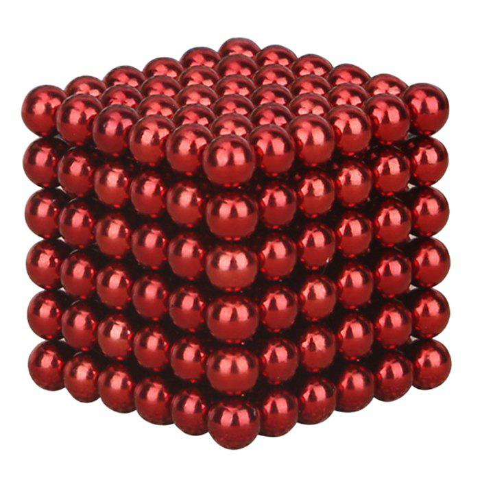 216 Pcs 3mm Education Toys Magnet Toys Multi Molding BuckyballsHOME<br><br>Color: RED; Products Type: Buckyballs; Style: Novelty; Package Contents: 1 x Buckyballs (Set);