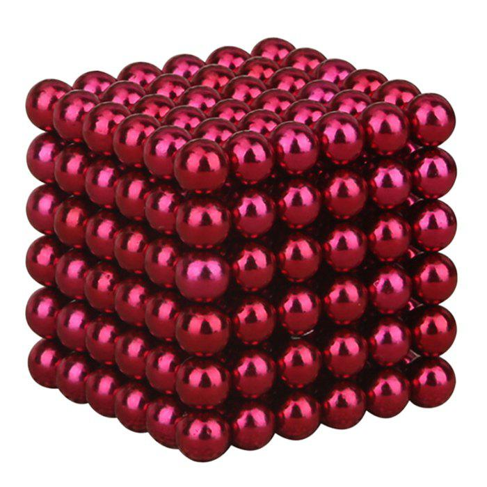 216 Pcs 3mm Education Toys Magnet Toys Multi Molding BuckyballsHOME<br><br>Color: SANGRIA; Products Type: Buckyballs; Style: Novelty; Package Contents: 1 x Buckyballs (Set);
