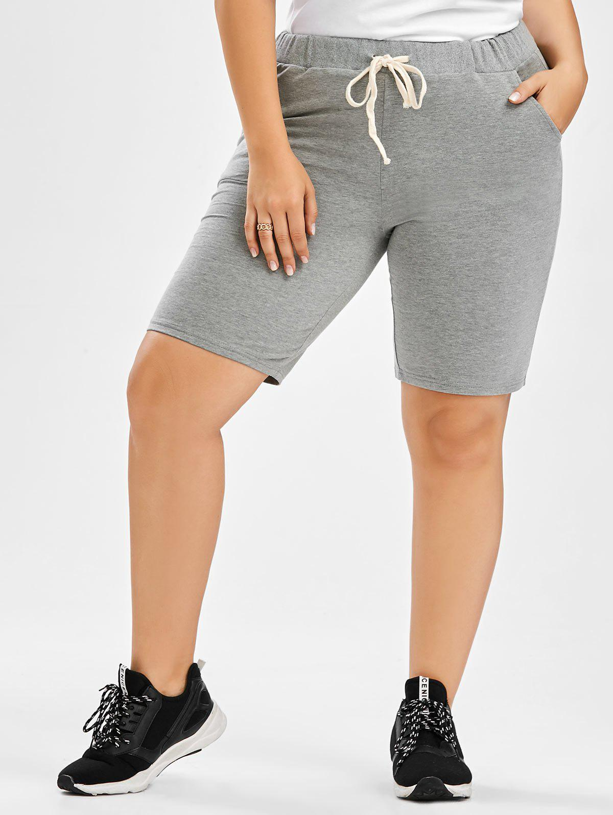Drawstring Plus Size Sweat Shorts from RoseGal