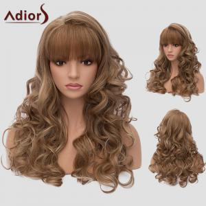 Adiors Full Bang Long Layered Wavy Highlight Synthetic Wig