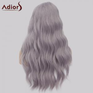Adiors Long Side Part Shaggy Big Wave Heat Resistant Synthetic Wig -