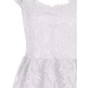 Lace Short Sleeve Skater Homecoming Formal Dress -