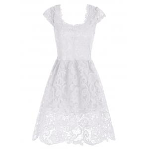 Lace Short Skater Homecoming Formal Dress