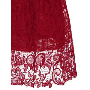 Lace Short Mini Skater Homecoming Formal Dress - Rouge XL