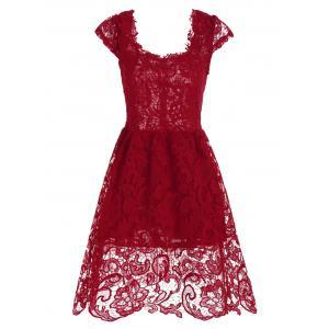 Robe Mini Lace Fit et Flare