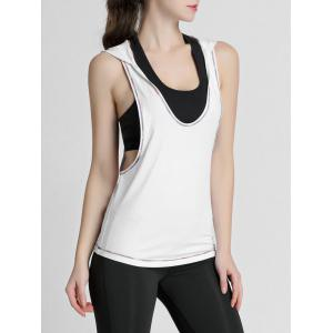 Hooded Running Workout Gym Tank Top -