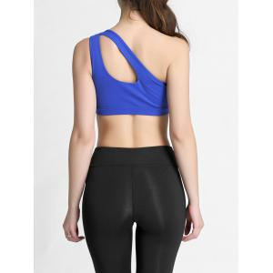 One Shoulder Cut Out Padded Sports Bra -