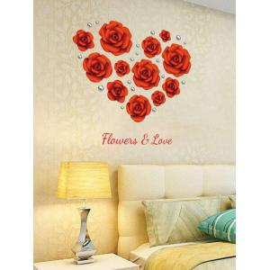Rose Flowers DIY Vinyl Removable Wall Sticker