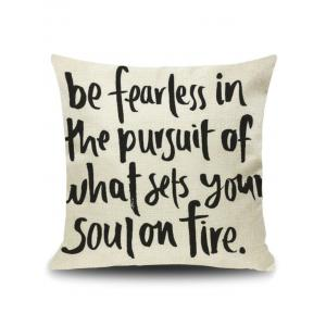 Letter Quote Printed Pillow Cover