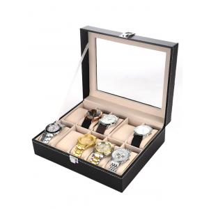 10 Grids Collection Classic Leather Watch Case Display Box