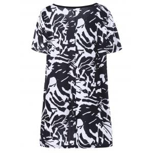 Plus Size Abstract Graphic Tee -