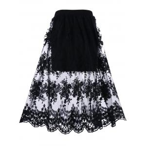 Allover Lace Lined Skirt -