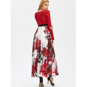 Colormix Xl Full Sleeve Floral Empire Waist A Line Maxi Dress ...