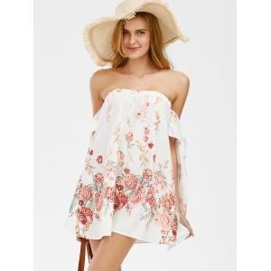 Off The Shoulder Floral Shift Beach Going Out Dress -