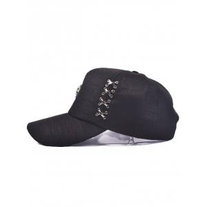 Alloy Circle Ring Lion Head Baseball Cap -