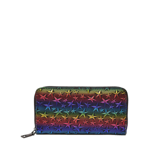 Star Embossing Clutch Wallet - COLORMIX
