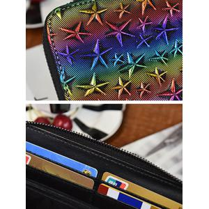 Star Embossing Clutch Wallet -