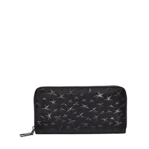 Star Embossing Clutch Wallet - Noir