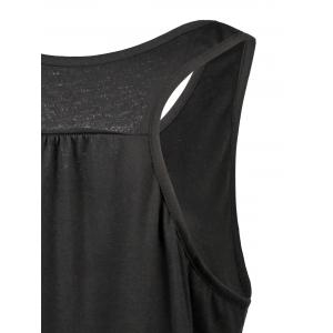 My Boobs Low Fat Graphic Tank Top - BLACK M
