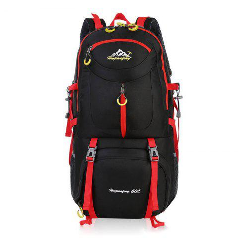 Waterproof 60L Mountaineering Backpack - Black