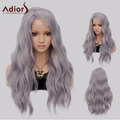 Best Adiors Long Side Part Shaggy Big Wave Heat Resistant Synthetic Wig