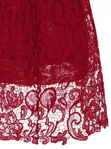 Latest Lace Short Skater Homecoming Formal Dress - S RED Mobile