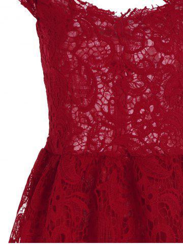 Chic Lace Short Skater Homecoming Formal Dress - S RED Mobile