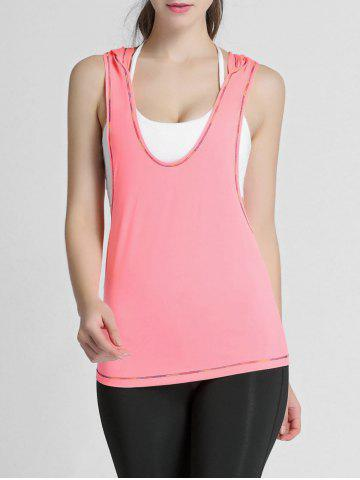 Unique Hooded Running Workout Gym Tank Top - S JACINTH Mobile