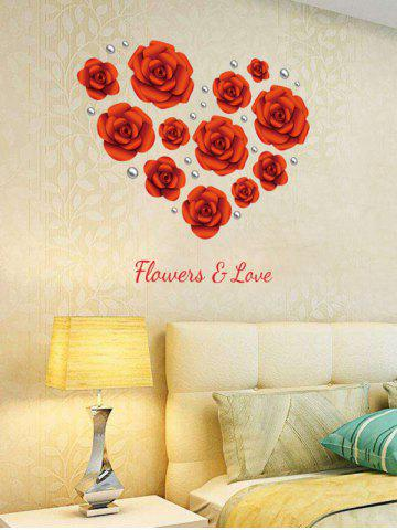 Shop Rose Flowers DIY Vinyl Removable Wall Sticker - 60*90CM RED Mobile