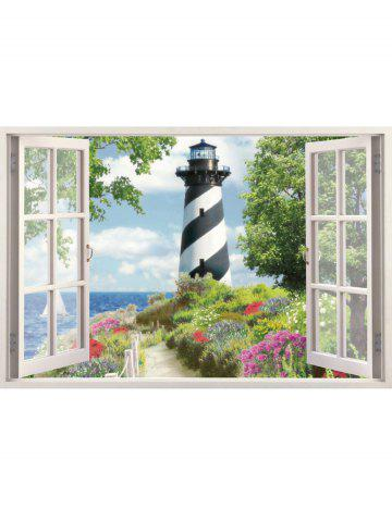 Affordable 3D Faux Window Scenery Wall Sticker - 50*70CM COLORMIX Mobile