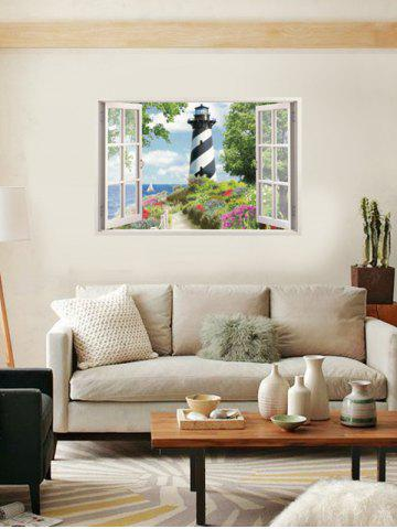 Fashion 3D Faux Window Scenery Wall Sticker - 50*70CM COLORMIX Mobile