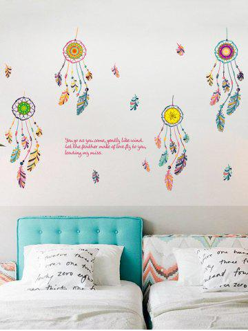 Fashion Art Feather Aeolian Bell Wall Stickers For Bedroom - 50*70CM COLORMIX Mobile