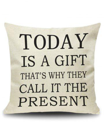 Today Letter Quote Printed Pillow Cover Case - Palomino - 45*45cm