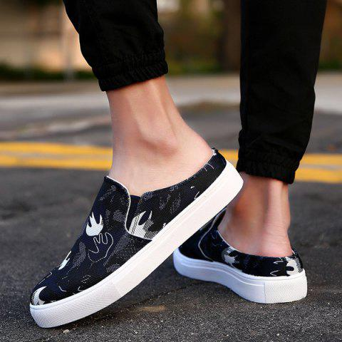 Chic Elastic Camouflage Pattern Casual Shoes - 40 PURPLISH BLUE Mobile