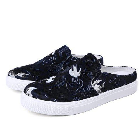 New Elastic Camouflage Pattern Casual Shoes - 40 PURPLISH BLUE Mobile