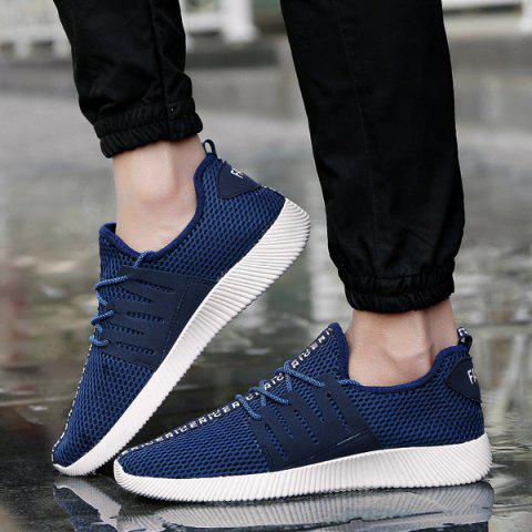 Outfits Mesh Letter Pattern Casual Shoes - 40 PURPLISH BLUE Mobile