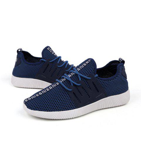 Outfit Mesh Letter Pattern Casual Shoes - 40 PURPLISH BLUE Mobile