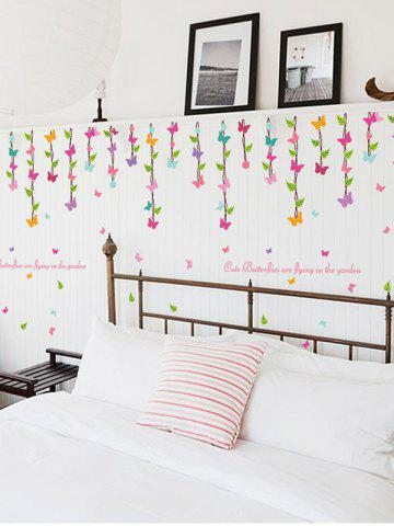 Shop Vinyl Removable Butterfly Quotes Wall Sticker - 50*70CM RED Mobile