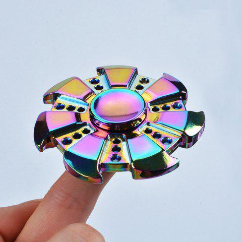 Colorful Stress Relief Toy Wheel Shape Finger Fidget Spinner - Colormix