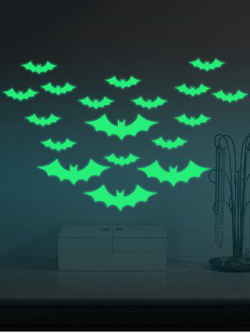 Fashion Noctilucence Bat Cartoon Wall Stickers For Kids - 56*8CM NEON GREEN Mobile