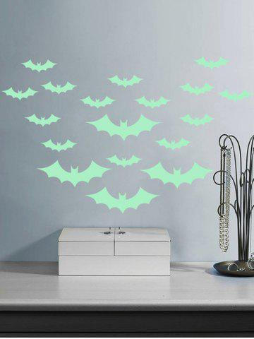 Cheap Noctilucence Bat Cartoon Wall Stickers For Kids - 56*8CM NEON GREEN Mobile
