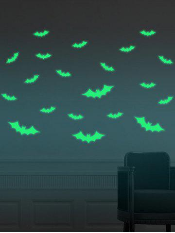 Latest Noctilucence Bat Cartoon Wall Stickers For Kids - 56*8CM NEON GREEN Mobile