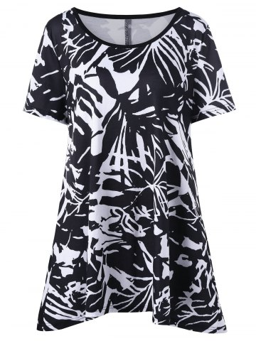 Fashion Plus Size Abstract Graphic Tee