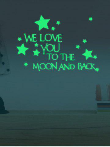 Hot Luminous Star Quote Vinyl Stickers For Wall - 24*35CM NEON GREEN Mobile