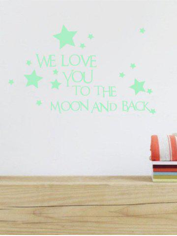 Discount Luminous Star Quote Vinyl Stickers For Wall - 24*35CM NEON GREEN Mobile