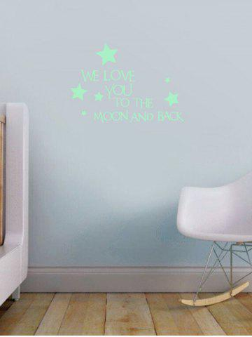 Affordable Luminous Star Quote Vinyl Stickers For Wall - 24*35CM NEON GREEN Mobile
