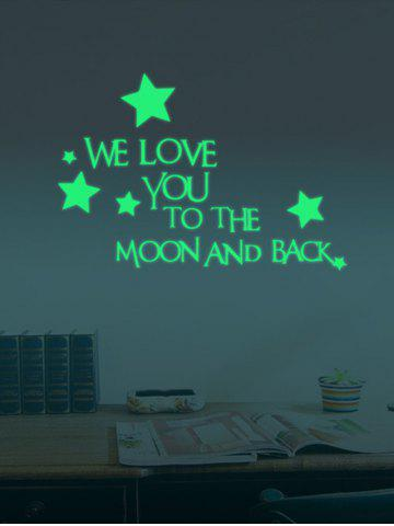 Best Luminous Star Quote Vinyl Stickers For Wall - 24*35CM NEON GREEN Mobile