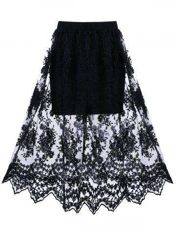 Fancy Allover Lace Lined Skirt