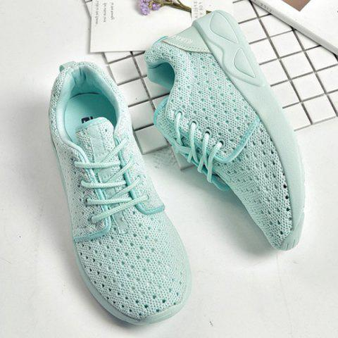 Affordable Mesh Breathable Athletic Shoes - 38 LIGHT GREEN Mobile